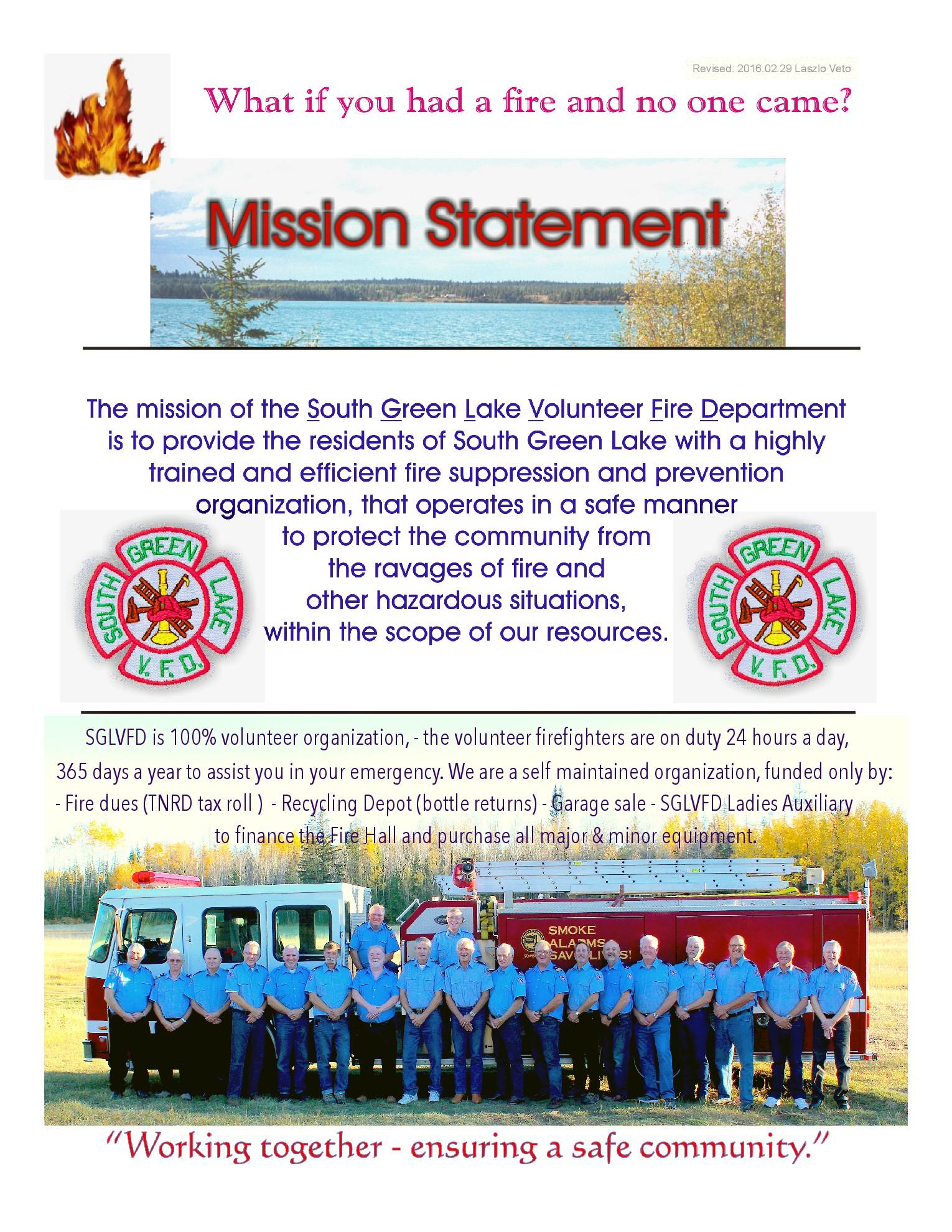 2016 Mission Statement