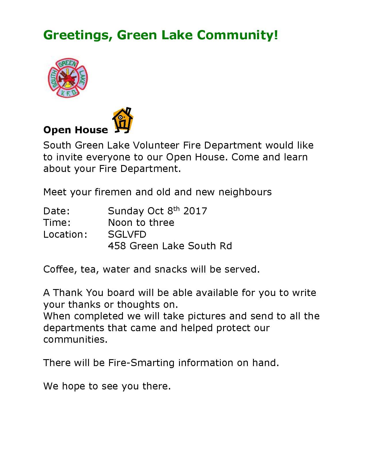 South Green Lake Volunteer Fire Department